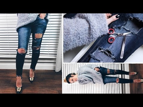 HOW TO DIY DESTROYED DENIM | Dress like an Instagram Fashion Blogger