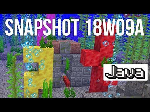 NEW Underwater Ruins & Coral Blocks in Minecraft Snapshot 18w09a