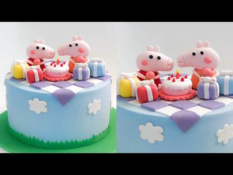 【Peppa Pig】Peppa Pig Cake Tutorial (5 mins)  Irma's fondant cakes