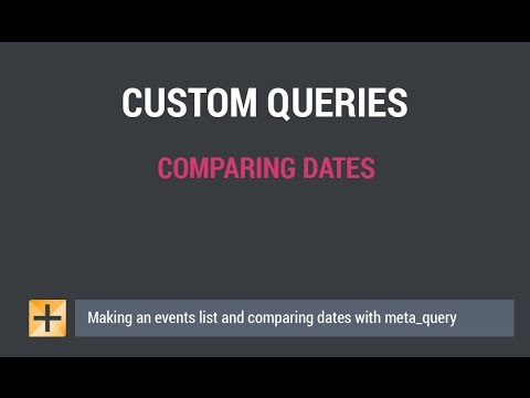 Wordpress Custom Query - Comparing Dates and Making Events List