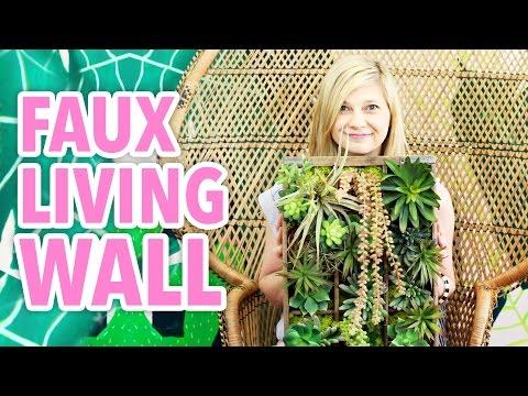 DIY Faux Living Succulent Wall - HGTV Handmade