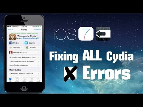 HOW TO FIX ALL CYDIA ERRORS (IOS 7 JAILBREAK)