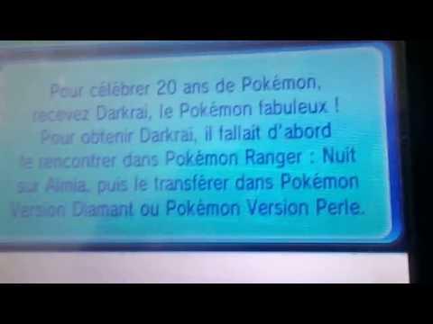 pokemon ROSA et XY: avoir miaouss victini et darkrai par cadeau mystère