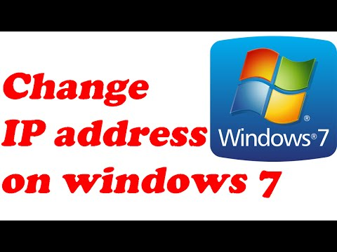 How to change ip address on windows 7 computer