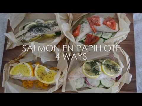 Salmon en Papillote 4 Ways (Paleo)