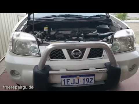 Nissan Xtrail 2007: How to Change Transmission Oil - T31