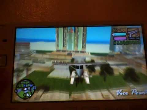 GTA Vice City Stories psp glitches (Flying Under the Map)