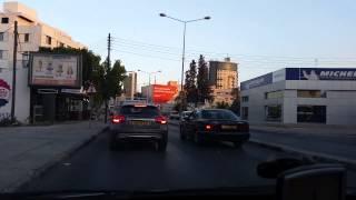 Driving into Nicosia/Lefkoşa Northern Cyprus TRNC