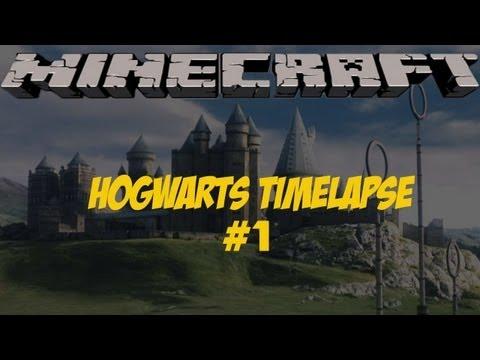 Minecraft Hogwarts Timelapse   Part 1   Courtyard