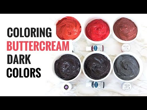 Coloring Buttercream Dark Colors (A Comparison)