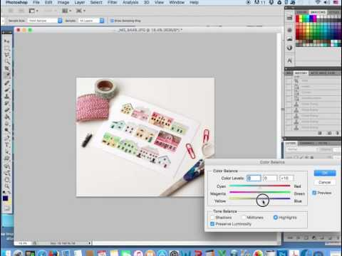 Editing a photo for online use like Etsy.