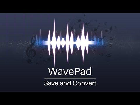 WavePad Audio Editor Tutorial   Save and Convert Audio