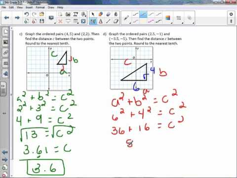 8th Grade 5-7: Distance on the Coordinate Plane
