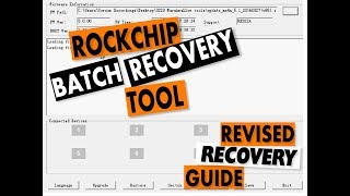 How to read/backup RockChip Firmware and Factory reset using