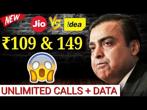 28 Days Validity in Latest ₹109 & ₹149 UNLIMITED Plan By IDEA vs Reliance Jio vs Airtel vs Vodafone