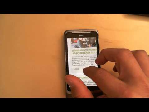 HTC Desire Z: Zooming pages