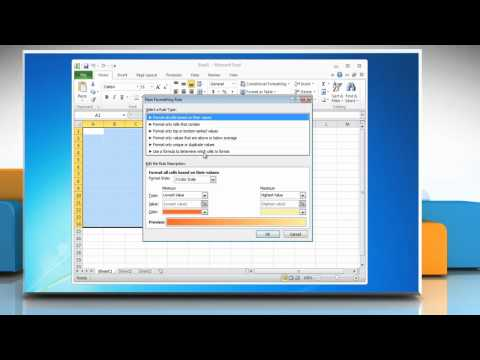 Excel 2010: How To Alternate the Color Between Rows