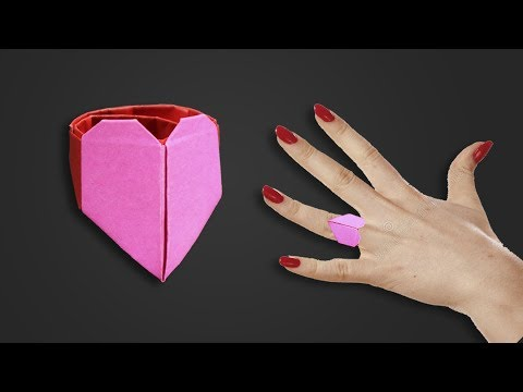 Easy Origami for kids : Heart Ring - How to make