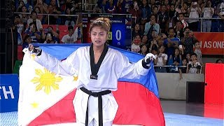 GOLD MEDAL For Pauline Lopez In The Womens 57kg Category Of Taekwondo 2019 SEA Games