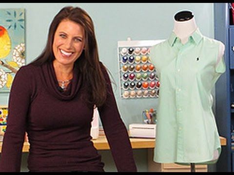 Angela Wolf Teaches How To Add Darts to a Shirt on It's Sew Easy (309-2)