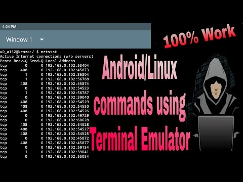 Android commands using terminal emulator tutorial 1