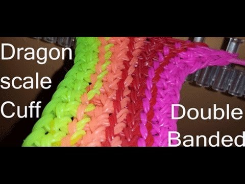Dragonscale Cuff Double Banded- Designed by Cheryl Mayberry