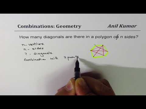 How many diagonals are there in n sided polygon