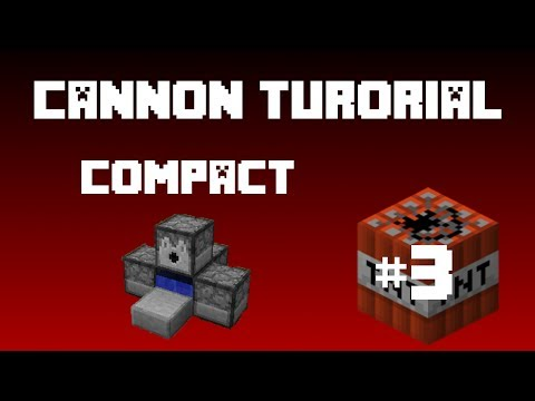 Minecraft - TNT Cannon (Tutorial) Smallest Ever Cannon!