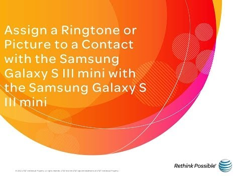 Samsung Galaxy S III mini : Assign a Ringtone or a Picture to a Contact