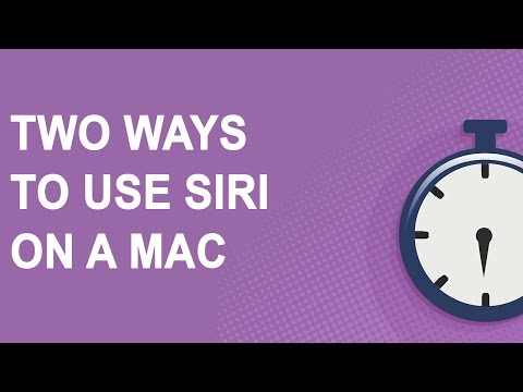 Two ways to use Siri on a Mac