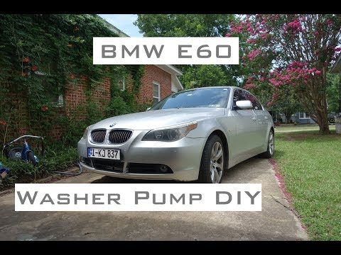 BMW E60 - Washer Pump DIY - 2004-2010