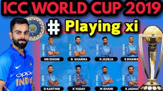 ICC World Cup 2019 | Team India's Probable Playing 11 | India Playing XI In World Cup 2019
