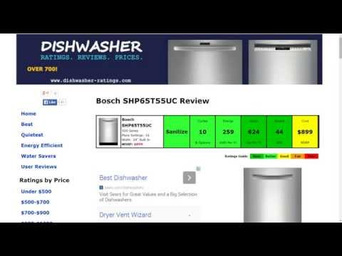 Bosch SHP65T55UC Dishwasher Review