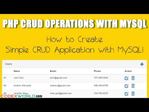 PHP CRUD Operations with MySQLi Extension