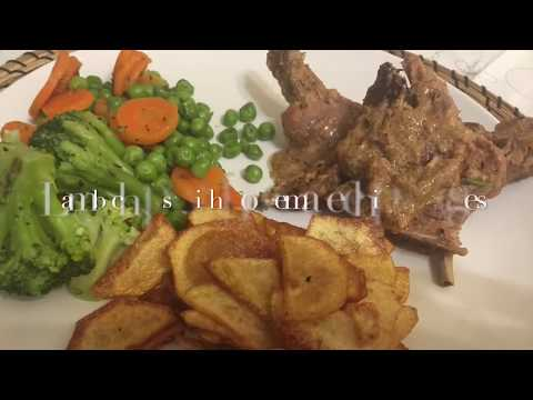 Lamb Chops With Homemade Chips & Veges