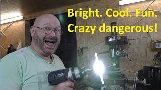 """The """"Rotorblade Beacon"""": Home Made 360 degree flashlight!"""