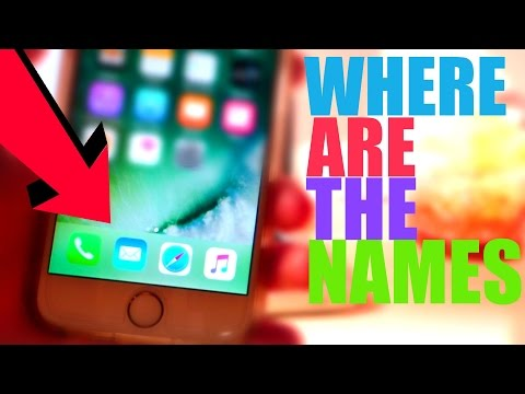HOW TO REMOVE APP NAMES IN IOS 10 NO JB