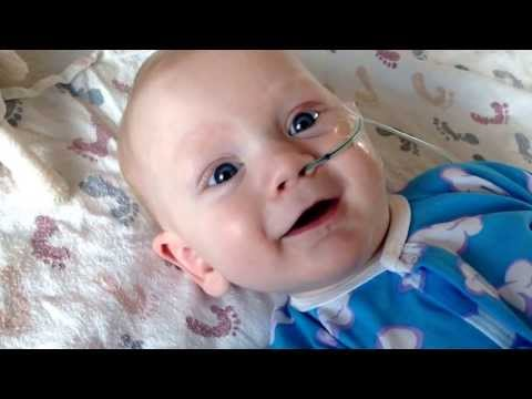 Gus in the hospital (day 6) with infant botulism