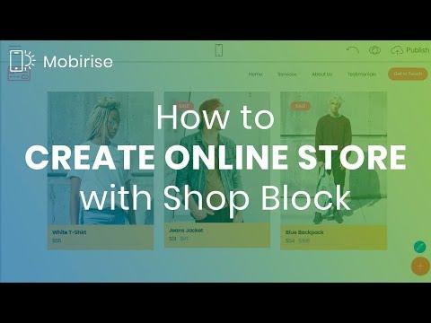 Mobirise Shop Block | Create Online Store