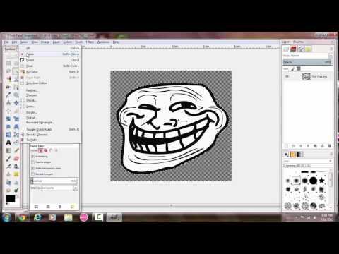 How to Make a Transparent Background With Gimp 2.8.14