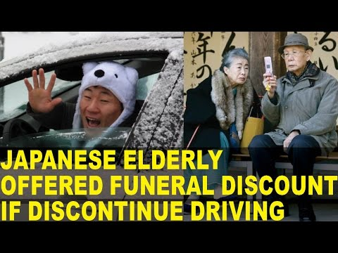 Elderly in Japan Offered FUNERAL Discount to STOP Driving