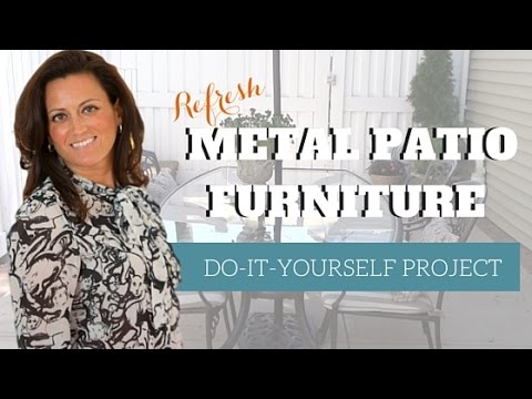 DIY | Refresh Your Metal Patio Furniture Set with Spray Paint