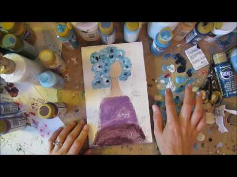 mixed media girl--time lapse video