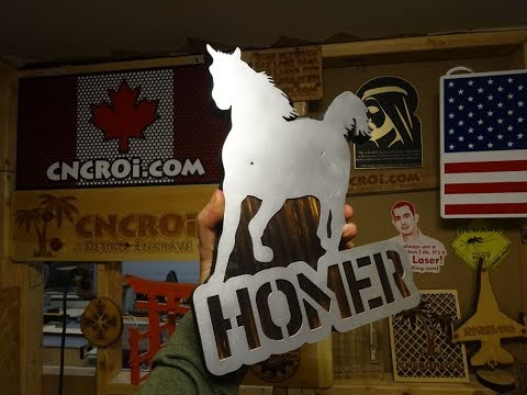Horse Stall Sign: CNC'ed Custom Metal & Wood Signage