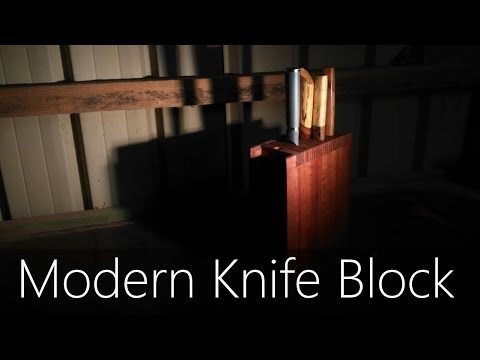 Making a Modern Kitchen Knife Block