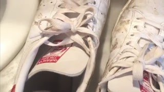 Comment nettoyer des chaussures blanches avec du dentifrice !!!! Vidéo avec Plume38