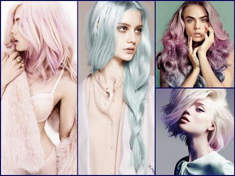 Pastel Hair Color Trends - Rose Quartz Color & Serenity Color Hair Color Palette