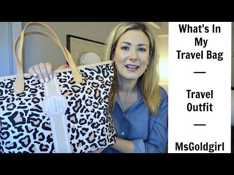 What's In My Travel Bag | Travel Outfit | MsGoldgirl