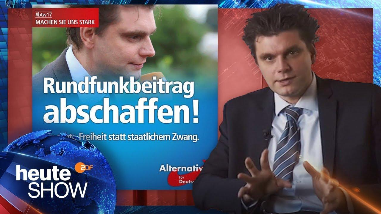 Lutz van der Horst will kein Gesicht für AfD-Werbung sein - heute-show vom 25.11.2016   ZDF