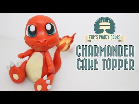 Pokemon cakes: Charmander cake topper